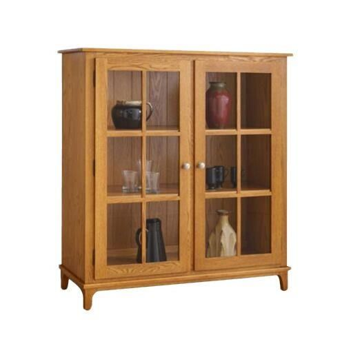 Amish Estates Curio Cabinet Showcase collectibles in this beautiful shaker style furniture.