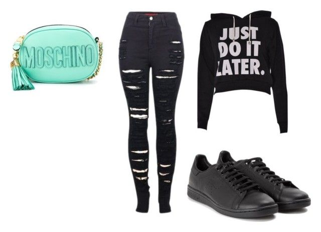 """""""Untitled #30"""" by jackeline1913 on Polyvore featuring 2LUV, adidas and Moschino"""