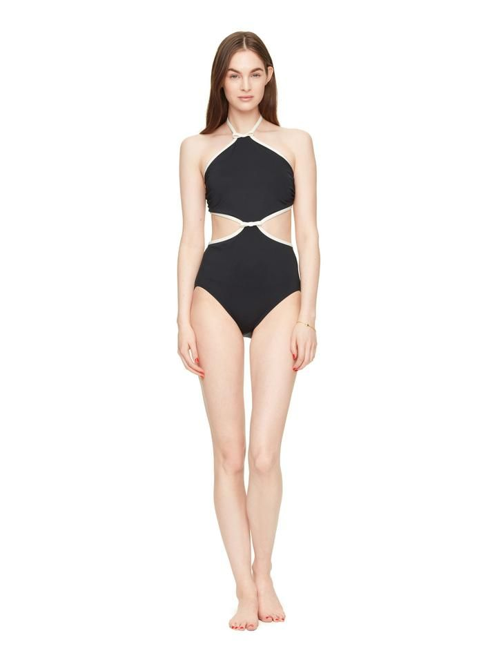 plage du midi cut out high neck maillot