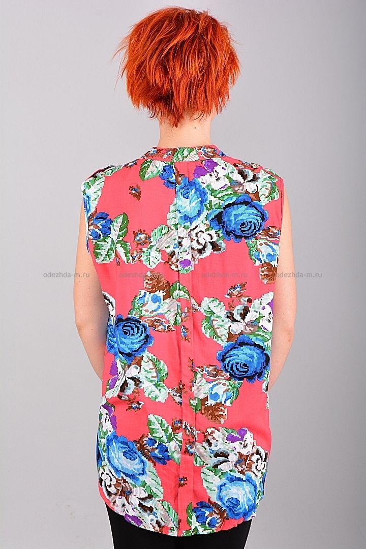 Блузка Б8628  Цена: 280 руб  Размеры: 42-48    Привлекательная блузка без рукавов, яркой расцветки.  Модель с застежкой на пуговицы.   Состав: 100 % хлопок.    http://odezhda-m.ru/products/bluzka-b8628    #одежда #женщинам #блузкирубашки #одеждамаркет