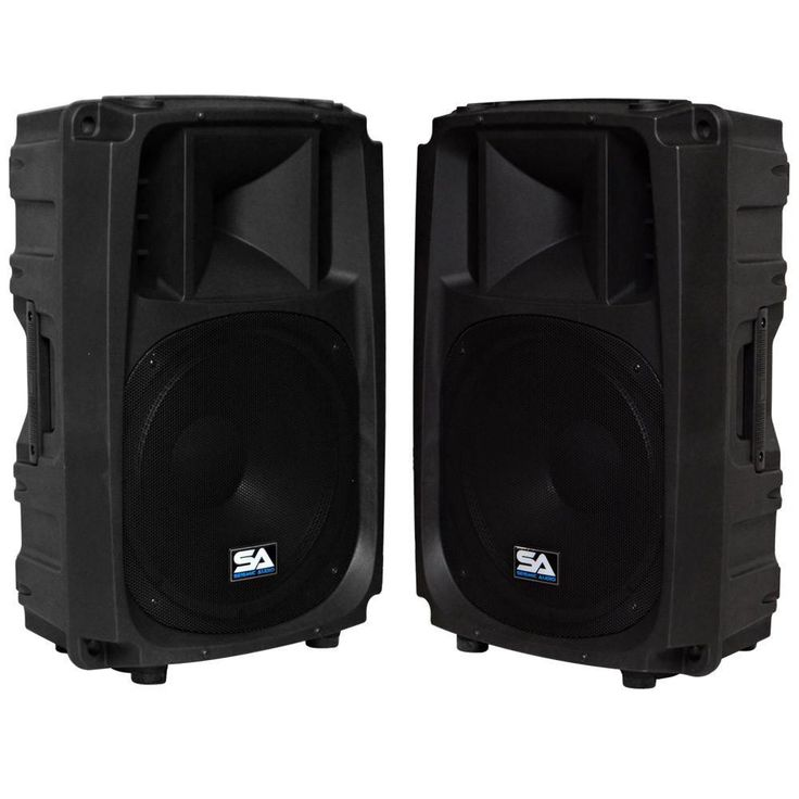 L Wave-15 - Pair of 2-Way 15 Inch Powered PA Speaker Cabinets