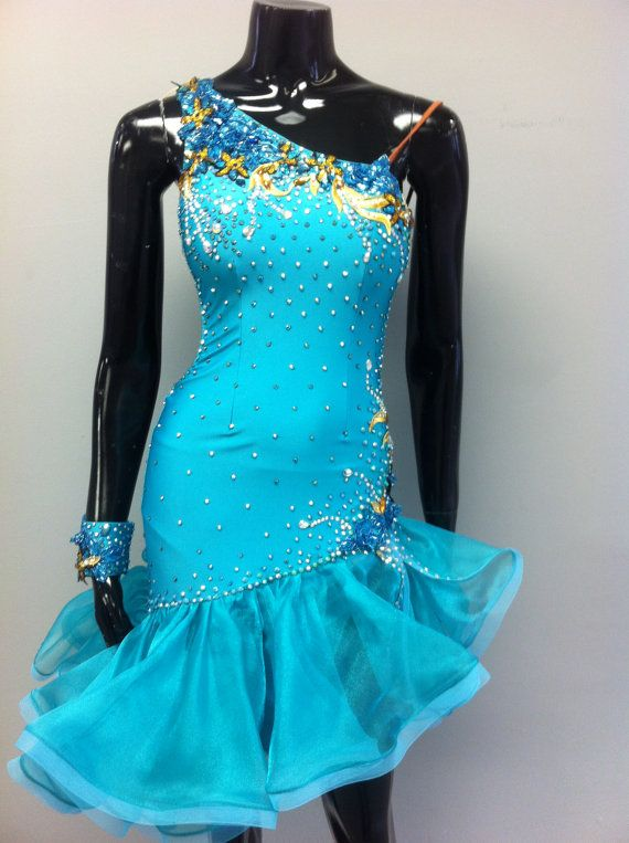 DRESS BY ORDER!  VERY SEXY AND ARTISTIC DANCE LATIN DRESS!  GREAT DRESS FOR DANCE COMPETITIONS!    DRESS MADE FROM :  -Lycra on the body and