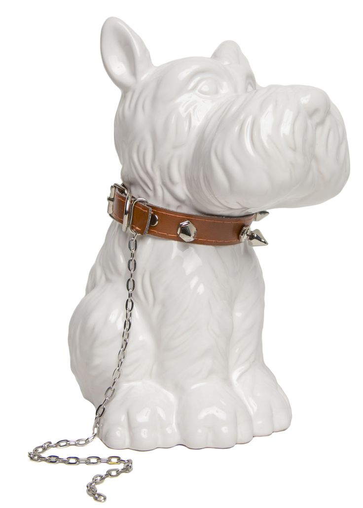 Scottie Dog with Stud Necklace Piggy Bank
