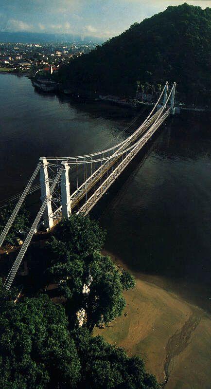 Ponte Pênsil de São Vicente - SP - Brasil