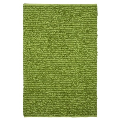 Circo light and lime green loopy chenille rug. Looks just like a patch of grass in my baby's room.