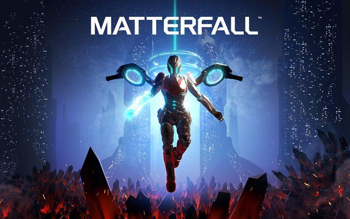 Descargar fondos de pantalla Matterfall, 2017, juegos para PS4, PlayStation 4, Cartel, juegos nuevos
