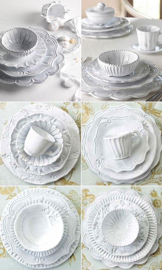 VIETRI Italian Ceramics Incanto White Dinnerware  \ De Medici dots baroque curves  sc 1 st  Pinterest & 97 best vietri dinnerware images on Pinterest | Dinnerware Cutlery ...