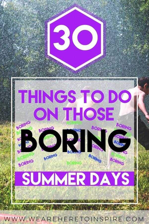 "Summer is here and kids will be at home saying ""I'm Bored!"" I have created a list of fun ideas for kids and teens to do when boredom strikes. Let's be honest, it get's annoying hearing how bored they are, huh? The easy yet perfect things to do for those boring summer days like DIY crafts, to going outside and getting messy! There is a little something you can do everyday of the summer!"