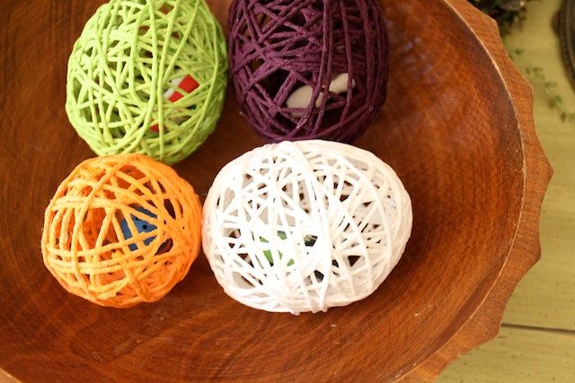 Yarn Easter eggs tutorial