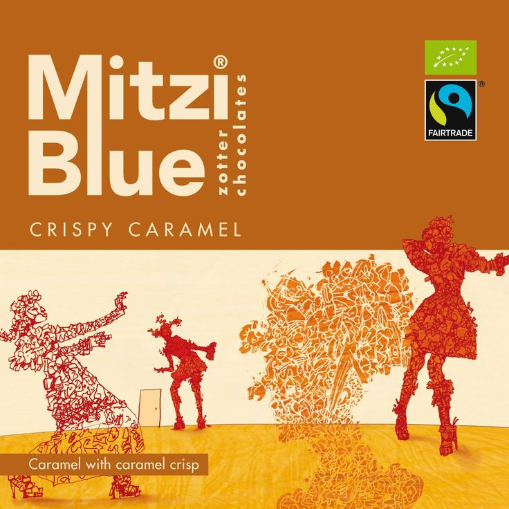 Mitzi Blue Crispy Caramel Chocolate, by #Zotter