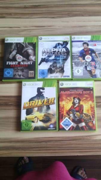 Biete hier fünf Xbox 360 Spiele an.<br />Fight Night<br />Alpha Protocol<br />FIFA 13<br...,Xbox 360 Spiele in Nordrhein-Westfalen - Euskirchen