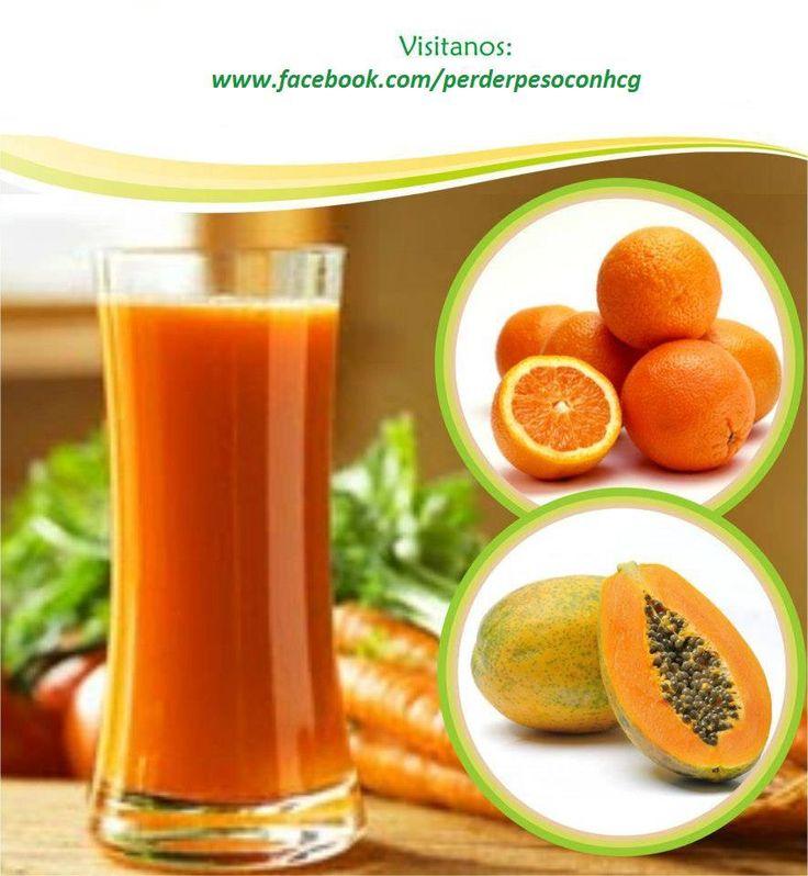 JUGO PARA ADELGAZAR   Ingredientes 1 taza de papaya en trozos 1 taza de jugo de naranja 1 zanahoria chica en trozos  Preparación Colocar todos los ingredientes en la licuadora y durante unos minutos licuarlo. Si desea se puede añadir un poco de agua para hacerlo menos espeso. Tomar 1 vaso por la mañana, 3 veces por semana. #zumos #jugos #licuados
