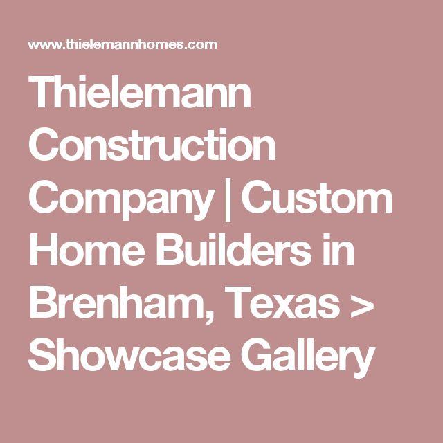 Thielemann Construction Company | Custom Home Builders in Brenham, Texas > Showcase Gallery