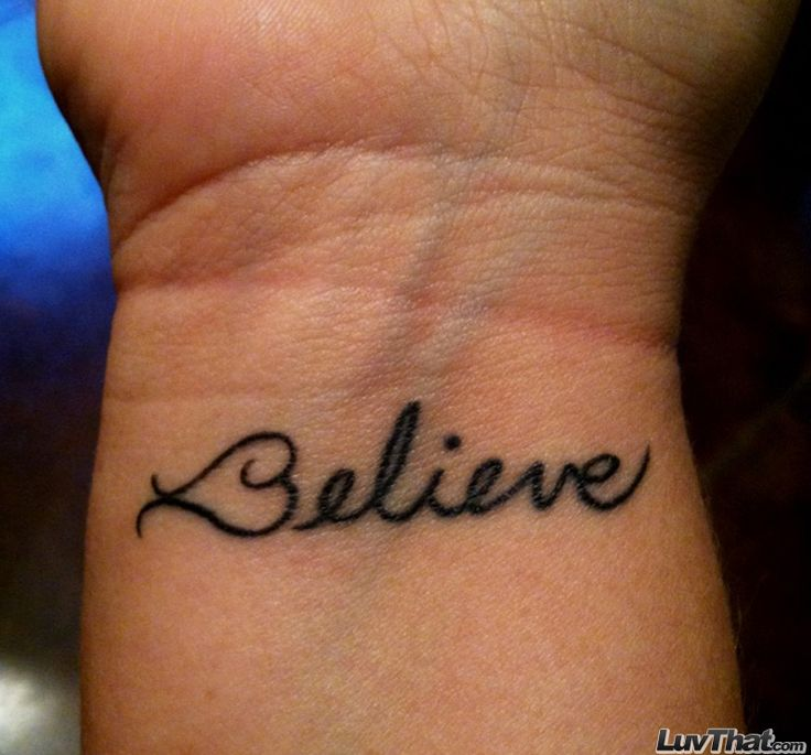 Believe Tattoos on Wrist With Heart Believe Heart Wrist Tattoo