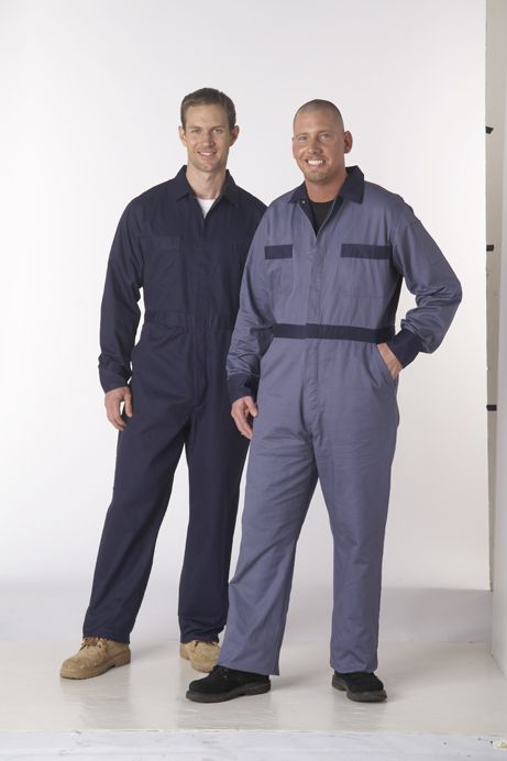 Coveralls Concealed Metal Button Closure 100% Cotton Twill 8.5oz : Prevent embarrassing wardrobe malfunctions while keeping your clothes clean on any job site, farm or workshop. These coveralls are made with heavy-duty 8.5oz. 100% cotton twill. Featuring a concealed metal button closure, 2 chest pockets, 2 lower back patch pockets and 2 lower front slant pockets as well as a pen and tool pocket