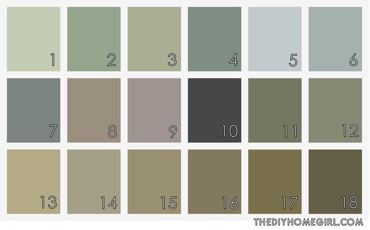 Muted Gray Green Paint