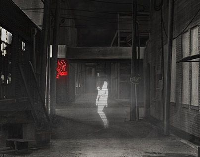 """Check out new work on my @Behance portfolio: """"Back alley"""" http://on.be.net/1MC9Or2"""