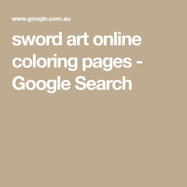 sword art online coloring pages - Google Search
