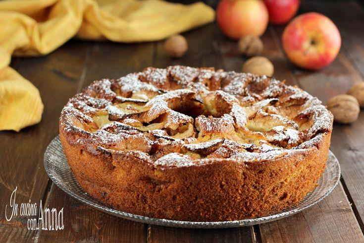La torta di mele,ricotta e noci è un dolce speciale che non potete perdere,semplice da preparare,sofficissima e golosa,ha un profumo e un sapore unico!