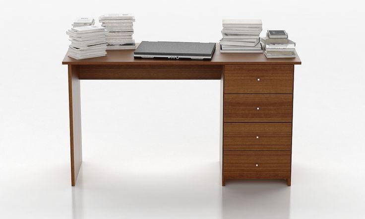 Ideales para oficinas, los escritorios que comercializamos contienen correderas metálicas y varios cajones para que puedas guardar ordenadamente todo tu material.