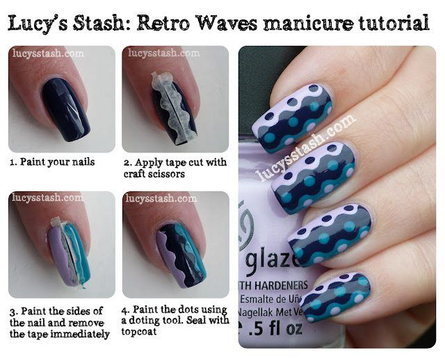 Use tape cut with craft scissors and add dots