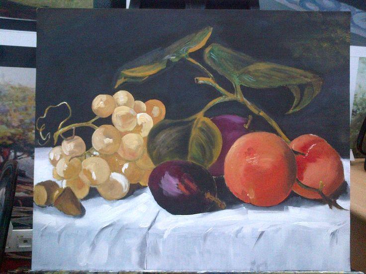 Yağlı boya-Meyveler..Oil paint-Friuts..-BURSA