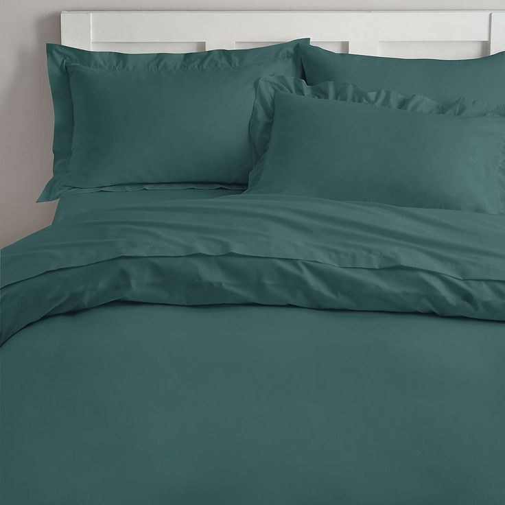 Non Iron Colonial Teal Duvet Cover | Dunelm