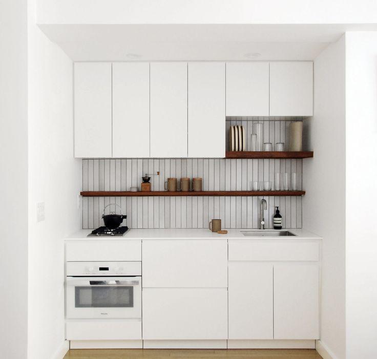 tiny kitchen with seamless appliance installation