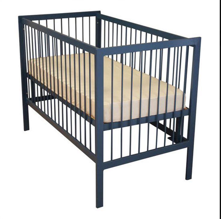 Kinderbed Linea zwart 60 x 120
