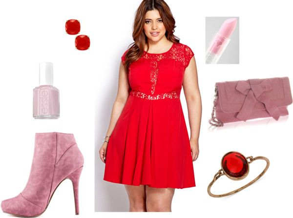 petite plus size valentines outfit ideas for a fun and sassy look on the curvy fashionista