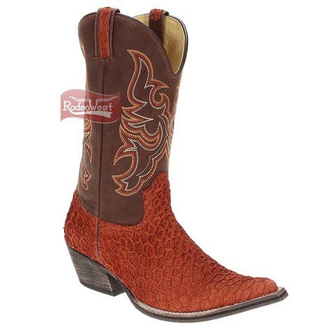 Bota Texana Exótica Bucho Pinhão Bico Fino Masculina - West Country
