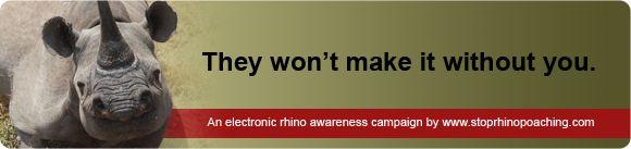 STOP RHINO POACHING NOW!