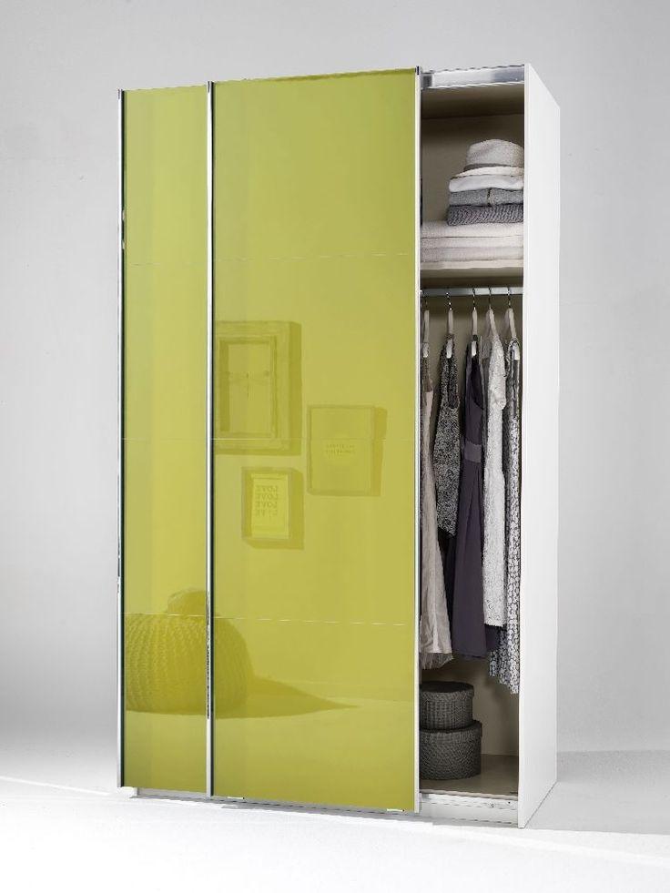 Beautiful Welle Mobel 5 Plus Slider Level 2 Sliding Wardrobe   Olive High Gloss
