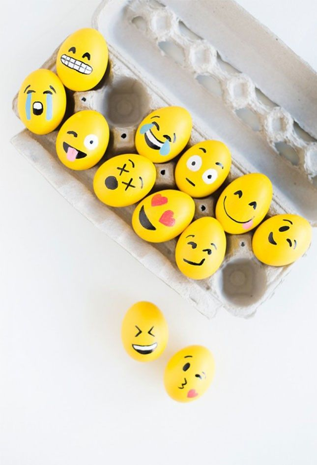 Make a dozen emoji Easter eggs by following this simple spring DIY tutorial.