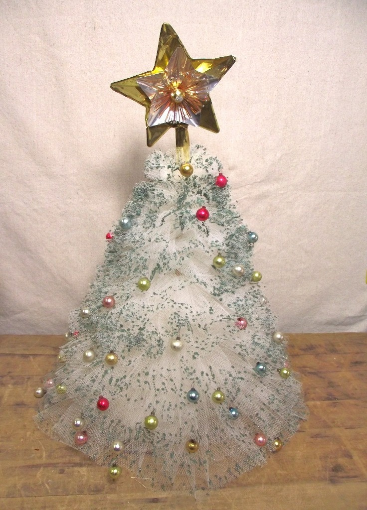 Vintage Tulle Christmas Tree Hand Made Craft from the past ...