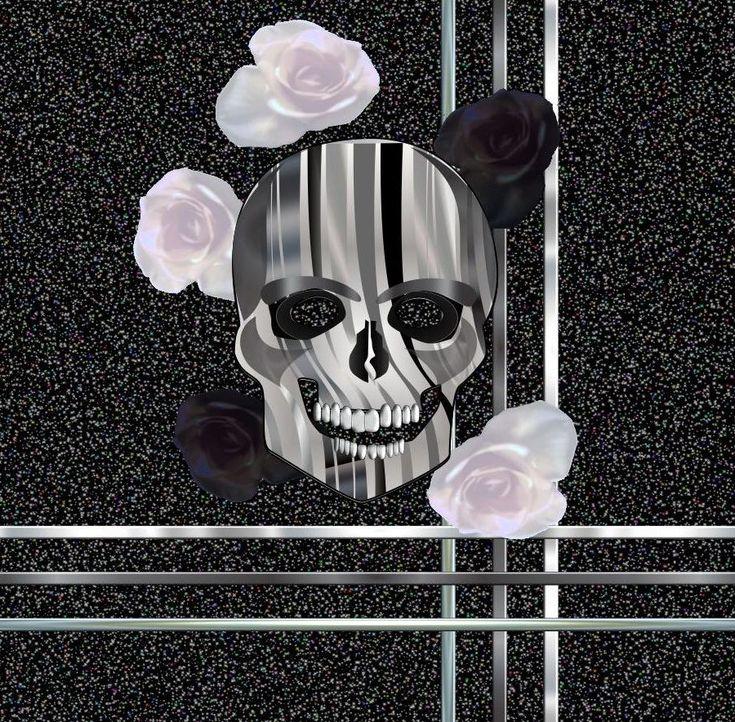 rose skull. - Printed Village