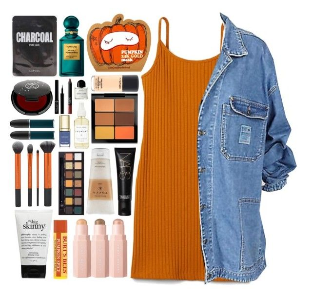 """""""rainy fall"""" by trashbud ❤ liked on Polyvore featuring beauty, philosophy, NARS Cosmetics, Tocca, MAC Cosmetics, Sephora Collection, Anastasia Beverly Hills, Rituel de Fille, A Weathered Penny and Dolce&Gabbana"""