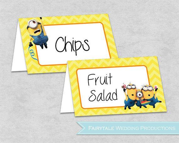 Despicable Me Minions Birthday Party Food par FairytaleWeddingPro