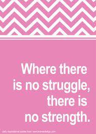No struggle is no strength