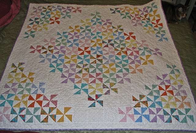 How beautiful is this quilt?   Finished Pinwheel Quilt by sleepy cat hollow, via Flickr