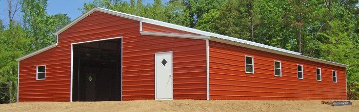 Metal Lean To Garage Building Carolina Barn