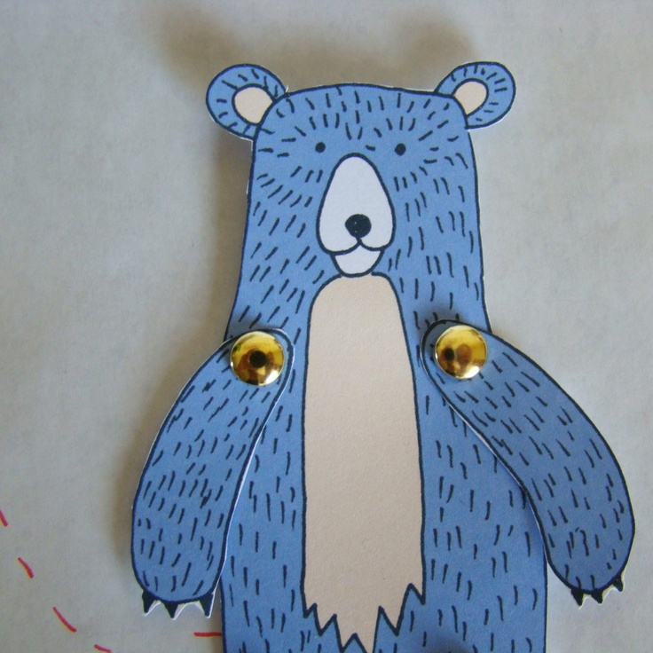Make your own Bear paper doll.
