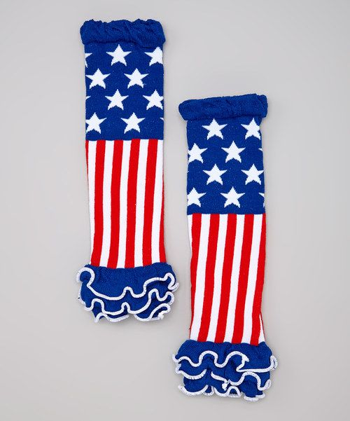 Look at this Miss Fancy Pants Red & Blue Stars & Stripes Leg Warmers - Toddler on #zulily today!