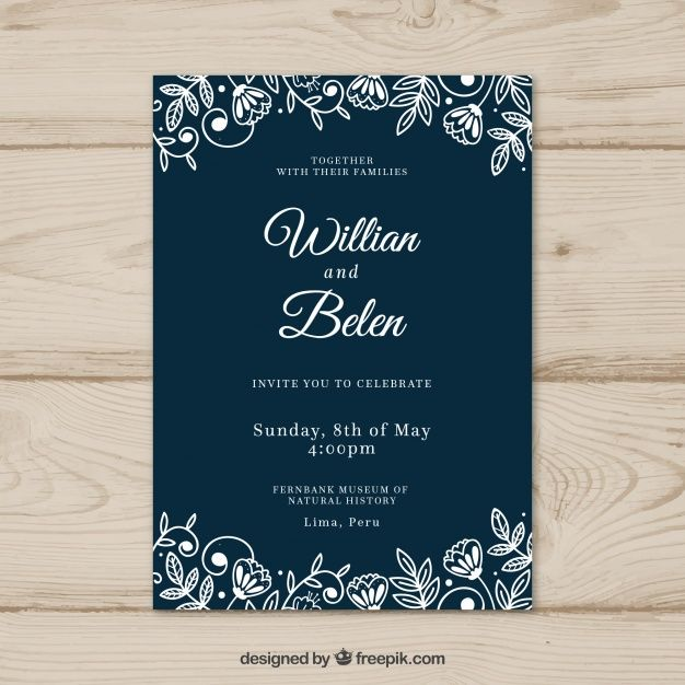 Download Wedding Card Invitation With Flowers For Free Wedding Invitation Card Design Wedding Invitation Cards Invitation Card Format