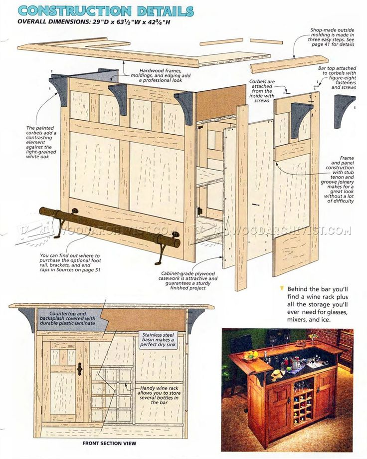 Incroyable #2877 Home Bar Plans   Furniture Plans