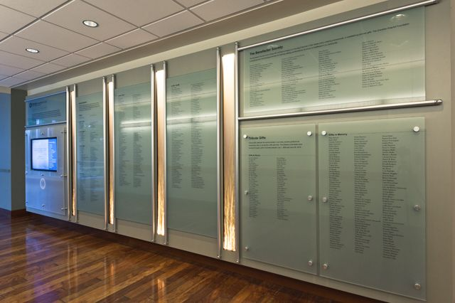 Overlate Hospital Medical Center Donor Wall Signage