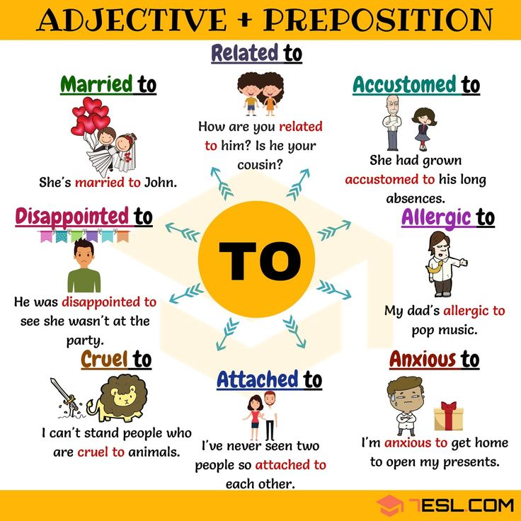 Adjective and preposition combinations - TO