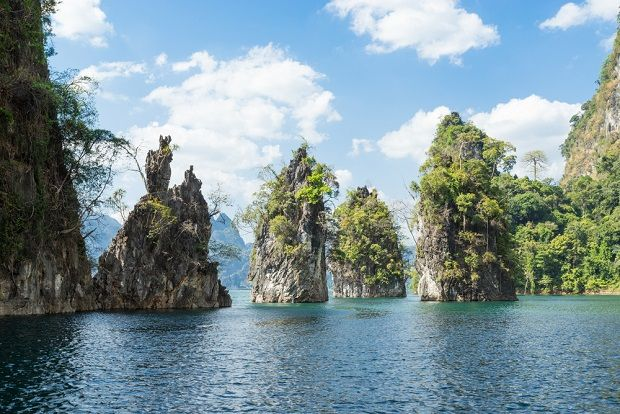 Limestone Cliffs in the Khao Lak National Park, Thailand