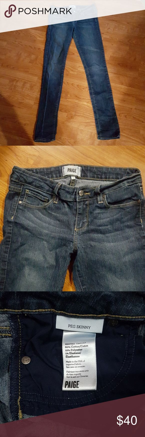 SALE TODAY!! PAIGE JEANS Make me a reasonable offer on these Paige Denim Peg Skinny Jeans! Size 26 Paige Jeans Jeans Skinny