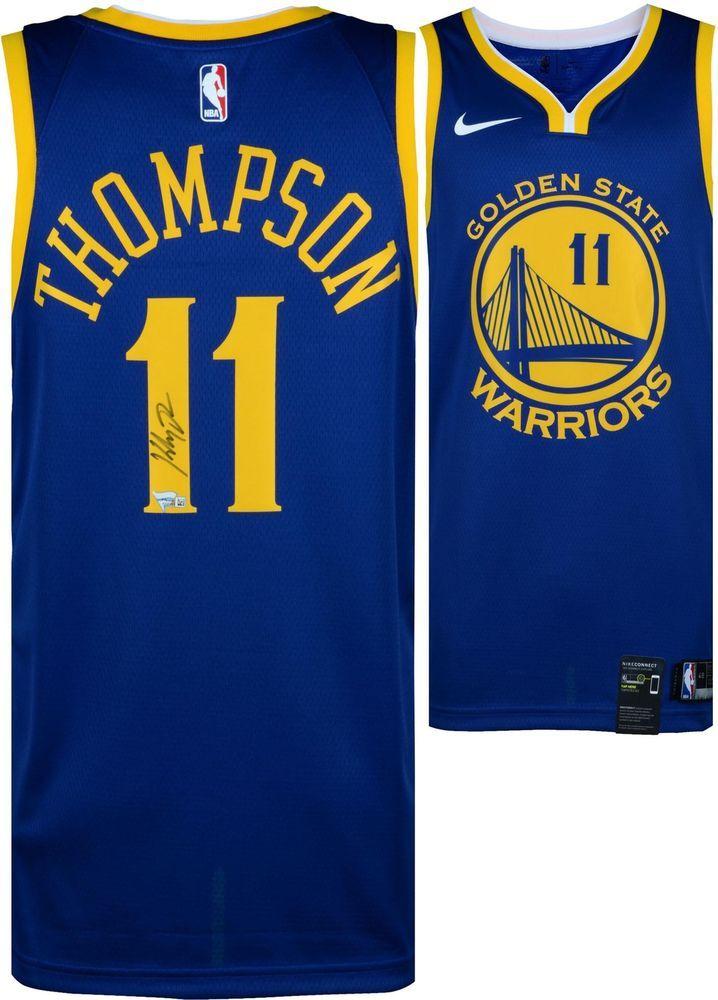 14288f6806dc Klay Thompson GS Warriors Autographed Blue Nike Swingman Jersey - Fanatics   sportsmemorabilia  autograph  basketballjersey